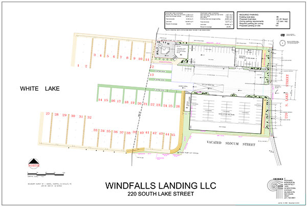 Whitelake Moorings site plan